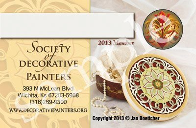 Society of Decorative Painters 2013 Membership Card